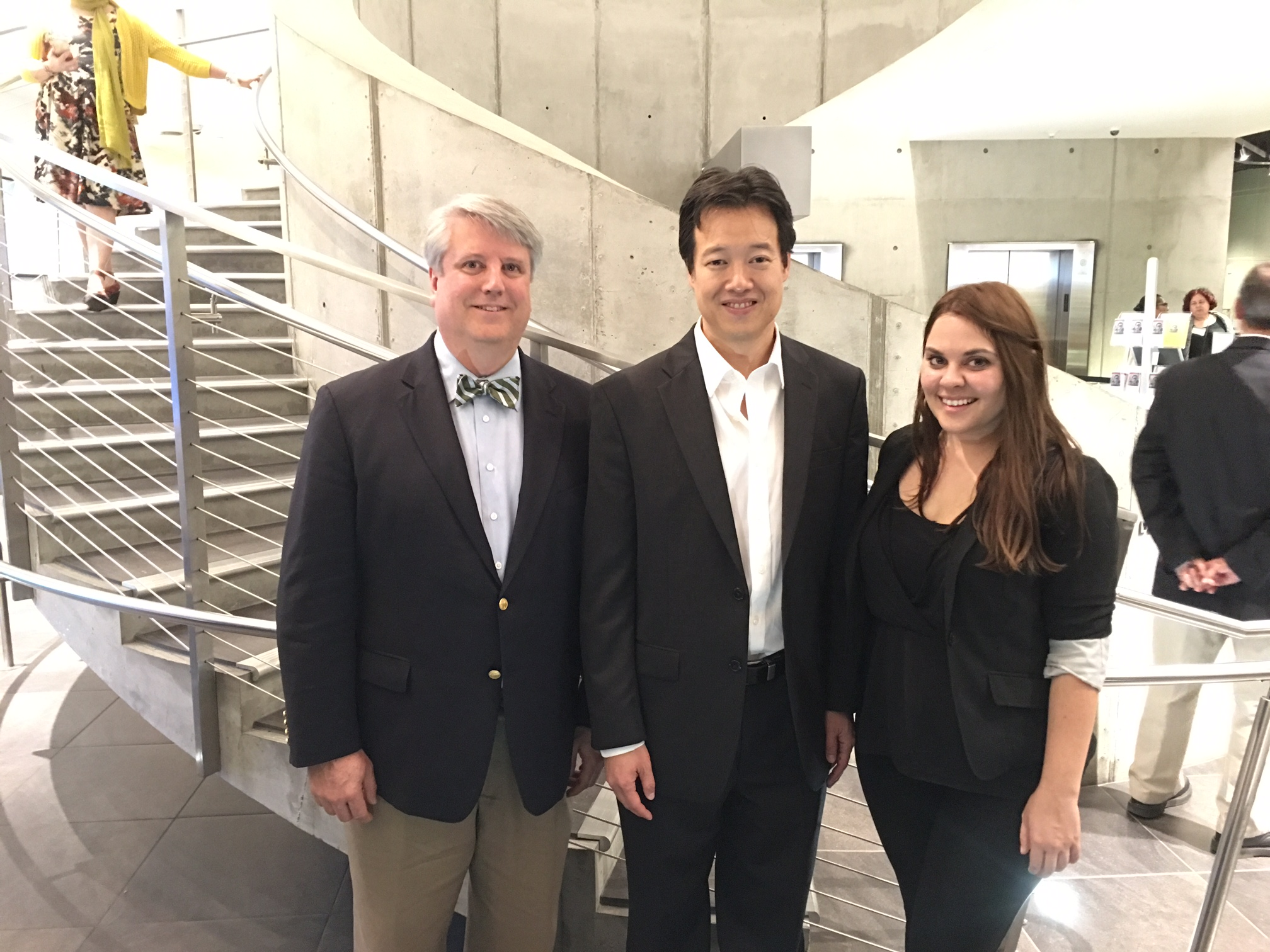 (From left) Hal Bowling, Executive Director, LAUNCH; Victor Hwang, Vice President of Entrepreneurship, Kauffman Foundation; Allison Reedy, Chief Operations Officer, CO.LAB